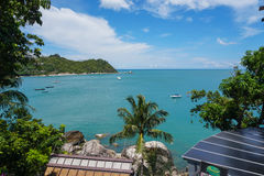 Sea view. On Phangan island, Thailand Royalty Free Stock Photo