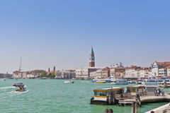Sea view of Piazza San Marco. Venice, Ital Royalty Free Stock Images