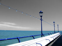 Sea view from the pier royalty free stock photos