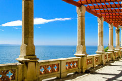 Sea view pillars Royalty Free Stock Images