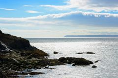 Sea view from Polkerris, Cornwall, England Stock Photography