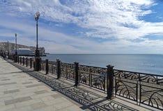 Sea view from the promenade. Crimea. Stock Photo