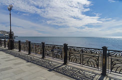 Sea view from the promenade. Crimea. Royalty Free Stock Photos