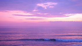 Sea view purple tone background stock footage