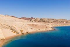 Sea view in Ras Mohamed National Park. Mountains and sea. Ras Mohamed National Park, Sharm El Sheikh, Egypt Stock Photo