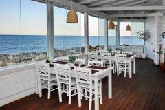 Sea View Restaurant Summer Pavilion Interior Stock Photography