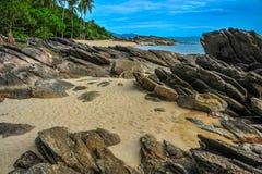 Sea view with rock coast Stock Photo