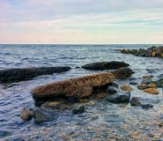 Seascape view from rocky coast Stock Photography