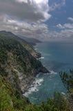 Sea view of romantic Vernazza Stock Photos