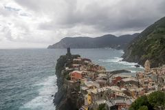 Sea view of romantic Vernazza Stock Images