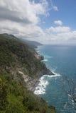 Sea view of romantic Vernazza Stock Photography