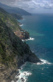 Sea view of romantic Vernazza Royalty Free Stock Image