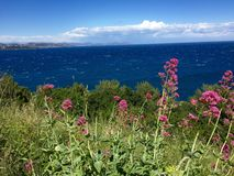 Sea view from Saint Tropez Royalty Free Stock Images