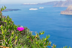 Sea view, Santorini, Greece Royalty Free Stock Images