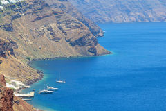 Sea view on Santorini island in Greece Royalty Free Stock Images
