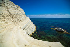 Sea view from the Scala dei Turchi Stock Photos