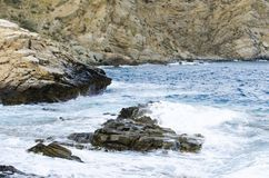 Sea view. Beach clifs and rocks Stock Photography