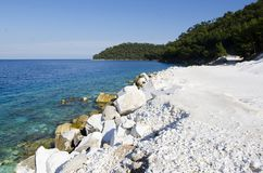 Sea view. On the clifs and bay Royalty Free Stock Photos