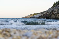 Sea view. On the clifs and bay Royalty Free Stock Image