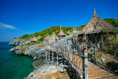 Sea view of si chang island,Thailand royalty free stock images