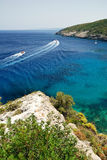 Sea View with speeding boats Royalty Free Stock Images