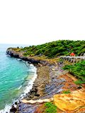 Sea view,. Sea view at Sriracha Chonburi Thailand Royalty Free Stock Image