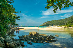 Sea view summer phuket thailand Royalty Free Stock Images