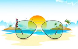 Sea View through Sun Glasses Stock Images