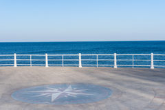 Sea view on a sunny day Royalty Free Stock Image