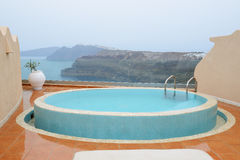 The sea view swimming pool with jacuzzi Stock Photo