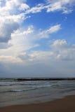 Sea view, Tel Aviv. Sea and sky view in Tel Aviv, Israel Stock Photo