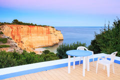 Sea view terrace Royalty Free Stock Image