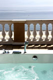 Sea view terrace jacuzzi Stock Photo