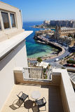 The sea view terrace at luxury hotel. Malta Royalty Free Stock Images