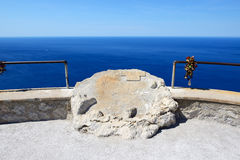 The sea view terrace near Cape Formentor in Mallorca. Island, Spain Stock Photography