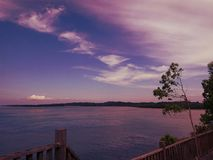 Sea view from top of hill. royalty free stock images