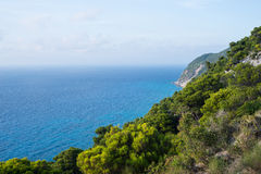 Sea view from top of hills Royalty Free Stock Photography