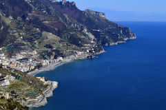Sea view from the top of Ravello, Italy Royalty Free Stock Images