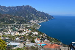 Sea view from the top of Ravello, Italy Royalty Free Stock Photos