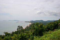 Sea view, top view of Southern Thailand Stock Photo