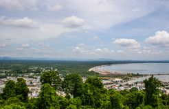 Sea view, top view of Southern Thailand Royalty Free Stock Images