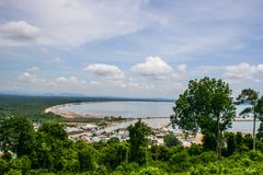 Sea view, top view of Southern Thailand Stock Photography