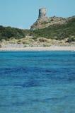 Sea view and tour d'Agnello, Corsica. Sea view and tour d'Agnello, Cap Corse, Corsica Stock Image