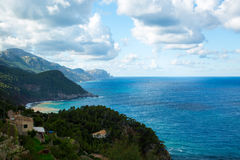 Sea view from Tramuntana road, Mallorca, Spain. Sea view from Tramuntana road, Palma de Mallorca, Spain Stock Photography