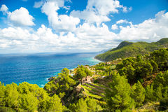 Sea view from Tramuntana road, Mallorca, Spain Royalty Free Stock Photo