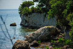Sea view in Trieste, Italy, near Miramare castle Royalty Free Stock Image