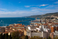 Sea view  of Trieste Port, Italy Royalty Free Stock Photography