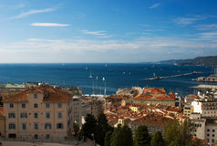 Sea view  of Trieste Port, Italy Stock Images