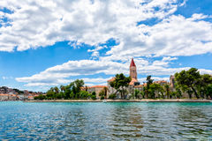 Sea view of Trogir. The view of old town from the east side of the shore Stock Images