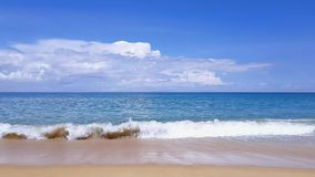 Sea view from tropical beach. Beautiful tropical background beach with nice blue water , Sea view from tropical beach stock video
